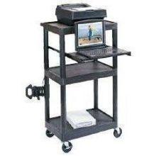 Luxor Black Versatile Stand-Up Laptop Computer Workstation