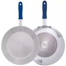 Induction Ready Aluminum Fry Pan with Stainless Bottom and Sleeves