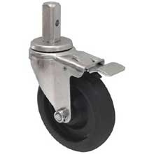 Standard Weight Caster with Brake for Sheet Pan Rack