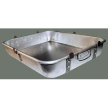 Winco Aluminum Heavy Duty Double Roaster Pan with Strap and Leg 18 x 24 x 4 1/2 inch