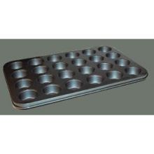 Winco Tin Plate 24 Cup Non Stick Mini Muffin Pan 13 3/4 x 10 1/2 inch