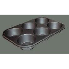 Winco Tin Plate 6 Cup Non Stick Muffin Pan 13 x 8 1/2 inch