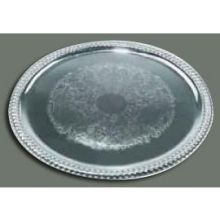 Winco Chrome Plated Oval Serving Tray 14 3/4 x 10 1/2 inch