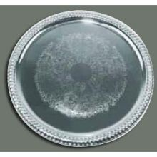 Winco Chrome Plated Round Serving Tray 14 inch