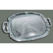 Winco Chrome Plated Oblong Serving Tray 19 1/2 x 12 1/2 inch