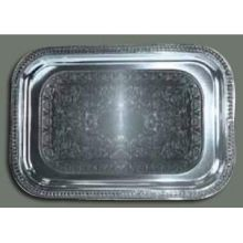 Winco Chrome Plated Oblong Serving Tray 20 x 14 inch