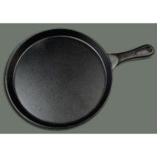 Winco Cast Iron Round Black Coating Grill Pan 10 inch