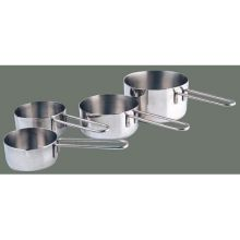 Winco Stainless Steel 4 Piece Measuring Cup Set, 6.5 inch Length
