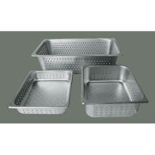 Winco Stainless Steel Perforated Full Size Steam Pan 4 inch