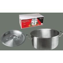 Winco Stainless Steel Brazier with Cover, 14.2 x 5.5 inch