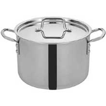 Tri Gen Triply Stainless Steel Stock Pot with Cover 8 Quart