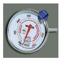 Winco Calibrated Candy and Deep Fry Thermometer 2 inch Diameter