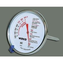 Winco Calibrated Black and White Dial Meat Thermometer 3 inch