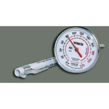Winco Calibrated Dial Pocket Test Thermometer - 0 to 220 Degree Fahrenheit 1 inch