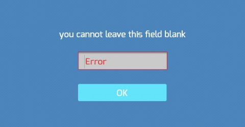 Adding error messages to field inputs