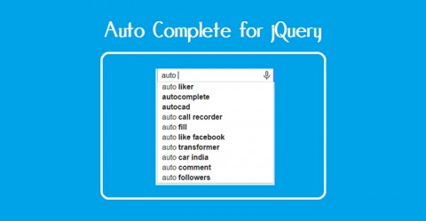 How To Implement JQuery AutoComplete
