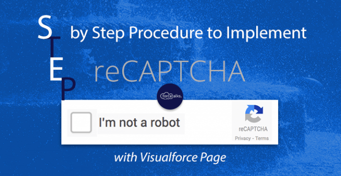 Salesforce Visualforce reCAPTCHA