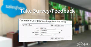 Take Survey/Feedback using Login Flows