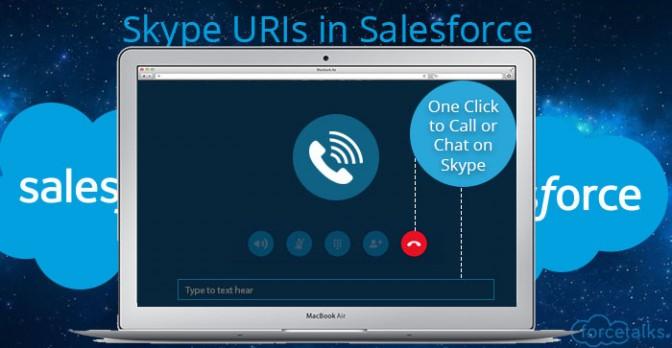 Salesforce Skype URIs