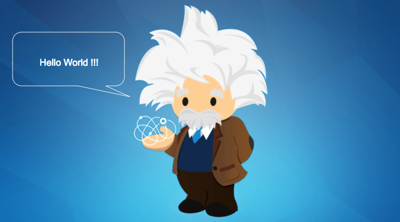 Hello World Code for Salesforce Einstein