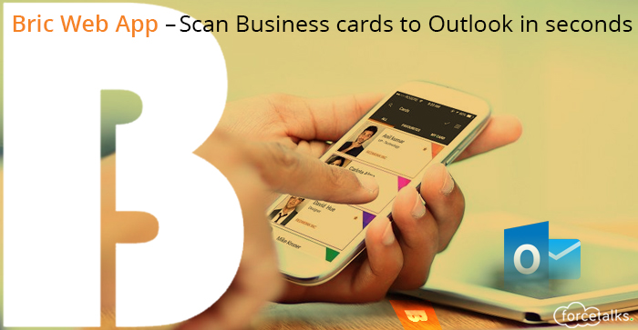 Scan Business cards to Outlook in seconds