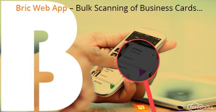 Bulk Scanning of Business Cards…