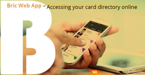 Bric Web App – Accessing your card directory online