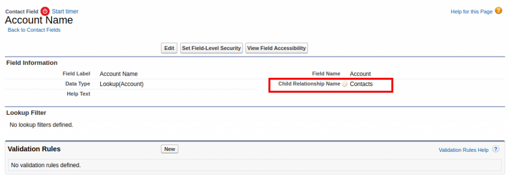 Salesforce | What is child relationship name of Account and