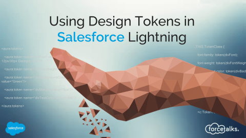 How To Use Tokens in salesforce Lightning?