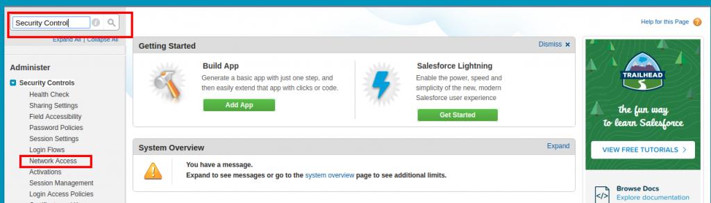 Salesforce | Whitelist IP Address in Salesforce – Forcetalks
