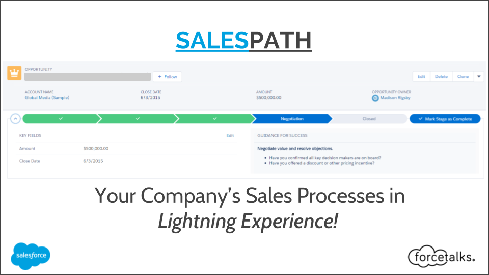 SALES PATH: Your Company's Sales Processes in Lightning Experience