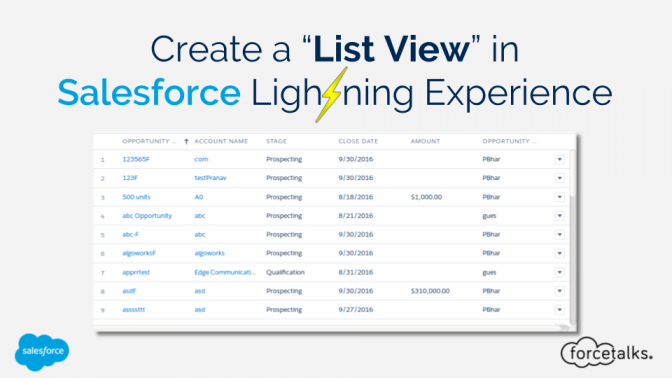 How to Create a List View in Salesforce Lightning Experience