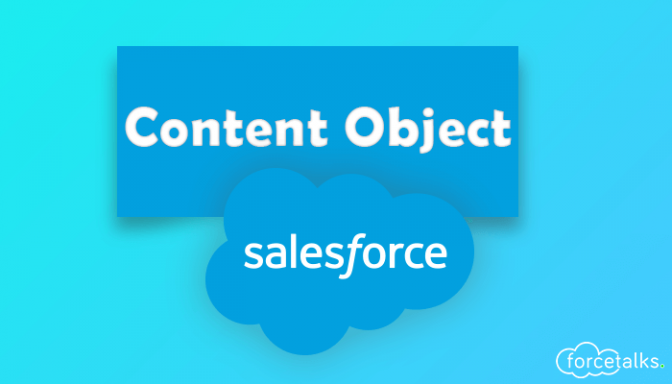 Content Object in Salesforce