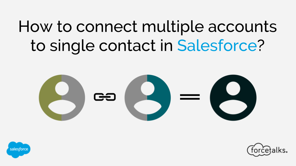 How to connect multiple accounts to single contact in Salesforce?