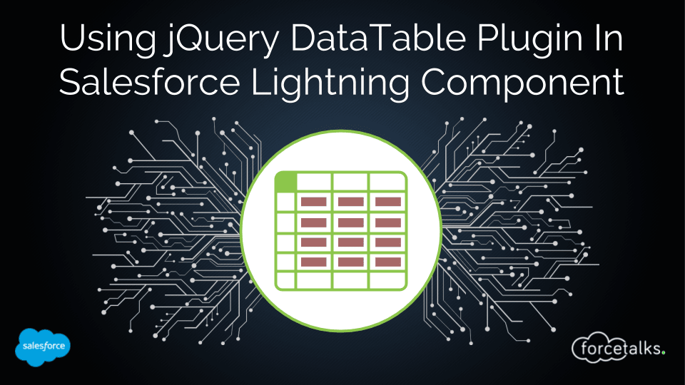 Salesforce | How To Use jQuery DataTable Plugin In