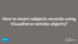 How to insert sobjects records using visualforce remote objects ?