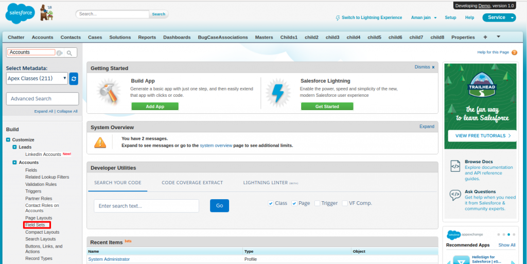 Salesforce | How to use fieldset in Salesforce Visualforce