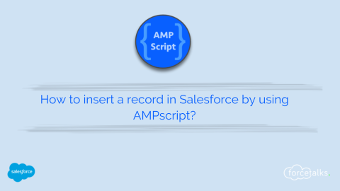 How to insert a record in Salesforce by using AMPscript?