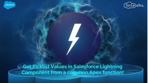 Get Picklist Values in Salesforce Lightning Component From a Common Apex Function