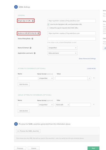Salesforce | Setting SSO between Salesforce and Okta's Custom