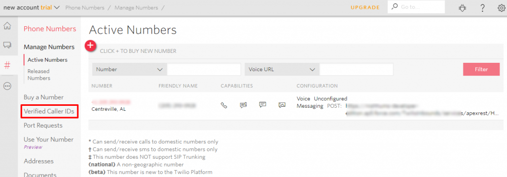 Salesforce   Test your Twilio's trial account Inbound messages