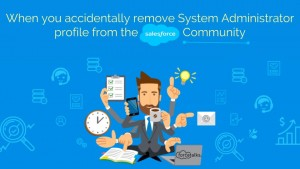 When you accidentally remove System Administrator profile from the Salesforce Community