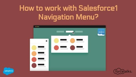 How to work with Salesforce1 Navigation Menu?
