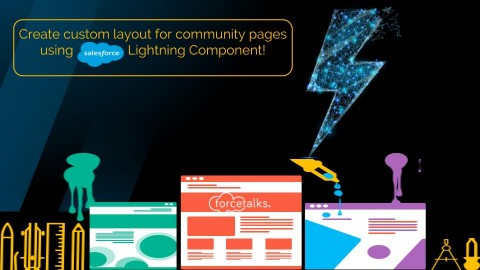 How to Create Custom Layout for Community Pages Using Salesforce Lightning Component?
