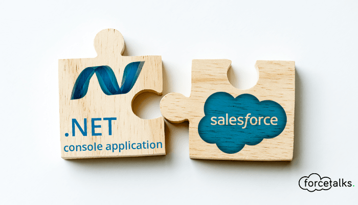 Integrate .NET console application with Salesforce Rest API