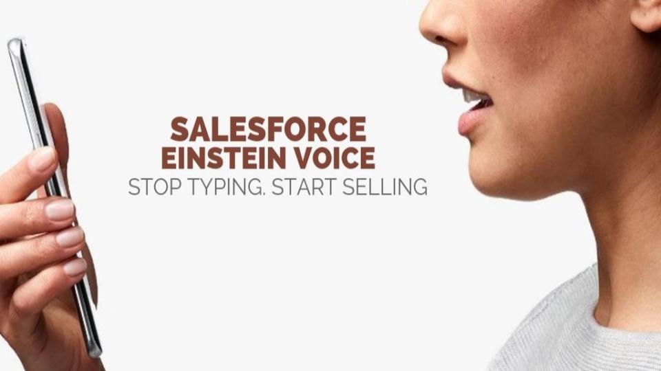Salesforce Einstein Voice – Stop typing and start Selling!