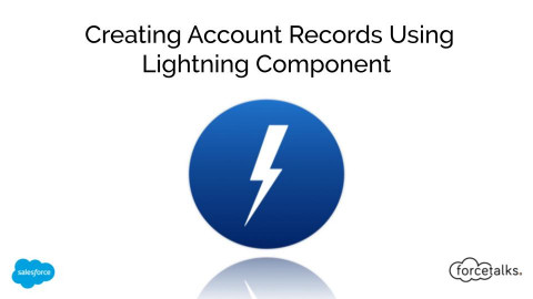 Create an Account Records Using Lightning Component