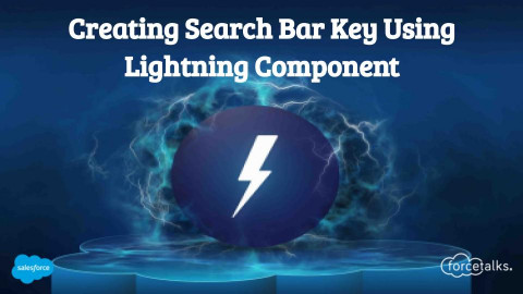 Create a search bar key to search Account name using lightning component.