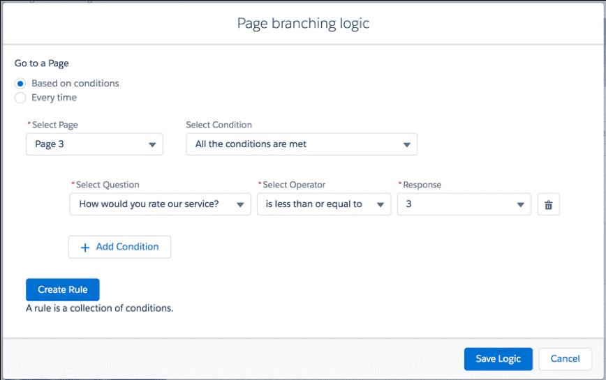 Page branching Logic