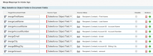 Merge Mappings tab in Salesforce